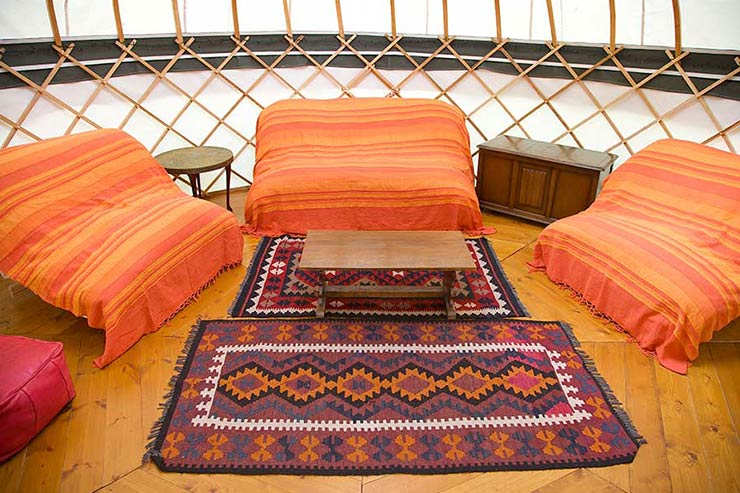 Sofabeds in Yurts