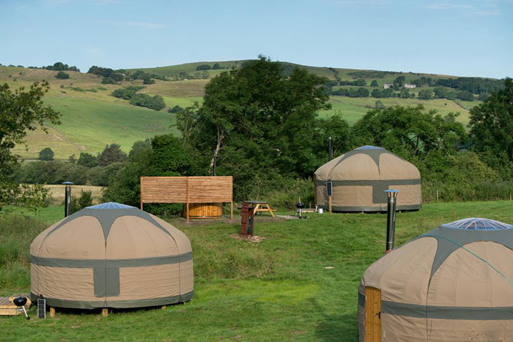 Long Valley Yurts at Moss Howe Farm, Witherslack