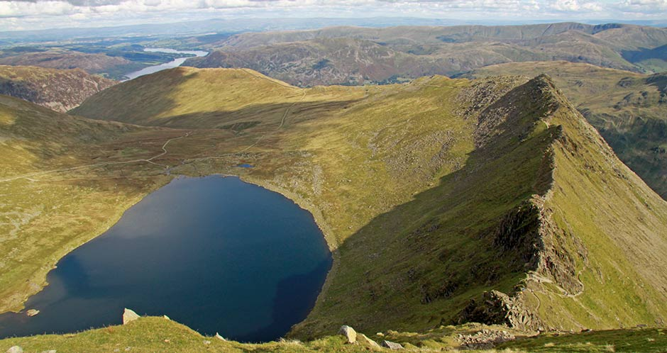 Striding Edge & Red Tarn from Hevellyn